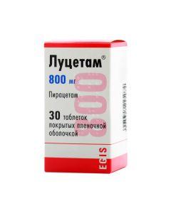 ЛУЦЕТАМ 800 мг (ПИРАЦЕТАМ) 30таб.