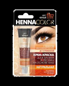 Крем-Краска для Бровей и Ресниц, Henna Color, Чёрный, Фитокосметик, 5 мл