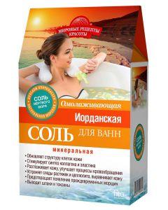СОЛЬ для ванн ИОРДАНСКАЯ  ОМОЛАЖИВАЮЩАЯ  (соль Мертвого моря), 500г+30г