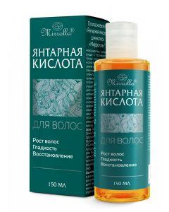 Янтарная кислота для роста и восстановления волос Mirrolla, 150 мл