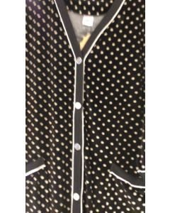 Халат женский велюровый  размер ХXL  (черный) Объём бедер 128см