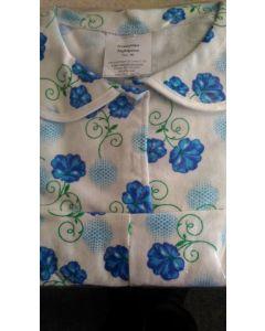Рубашка ночная фланелевая,  голубые цветы, размер ХХXL (56)