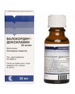 ВАЛОКОРДИН- ДОКСИЛАМИН 20мл