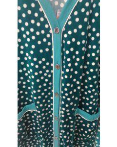 Халат женский велюровый  размер S  (зелёный) Объём бедер 106 см