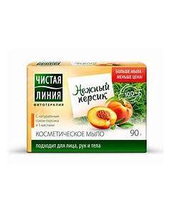 """""""Чистая Линия"""" МЫЛО косметическое ПЕРСИК, 90г"""