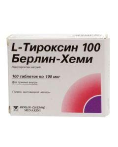 L-ТИРОКСИН 100мг Берлин-Хеми, 50 таблеток