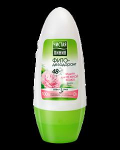 Чистая Линия роликовый ФИТО-дезодорант, Защита для нежной кожи 50мл