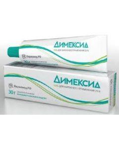 ДИМЕКСИД 25% 30 г гель (для суставов,при тромбофлебите )