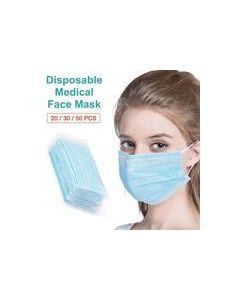 МАСКА 3-слойная  защитная противобактериальная 10 штук