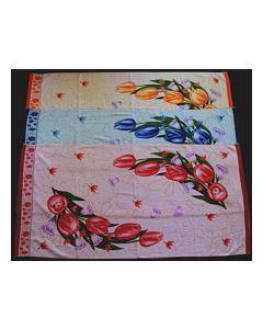 Махровое полотенце 100% хлопок 50cm x 90cm Цвет Розовый, рисунок №1