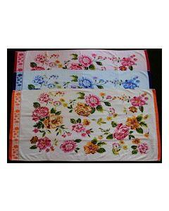 Махровое полотенце 100% хлопок 50cm x 90cm Цвет Голубой, рисунок №1