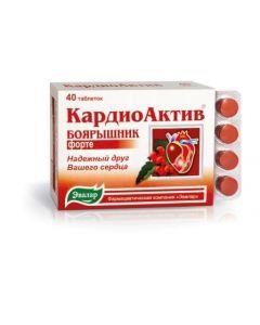 КАРДИОАКТИВ Боярышник ФОРТЕ 40таб. /Эвалар/