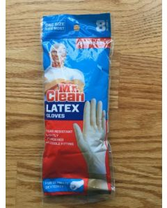 Перчатки резиновые  Mr.Clean  Latex gloves №8 штук disposable
