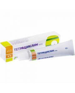 ТЕТРАЦИКЛИН, 3% мазь для наружного применения 15г