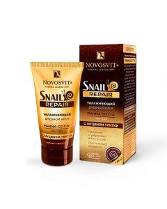 Увлажняющий дневной крем  с муцином улитки Snail repair, NOVOSVIT, 50 мл